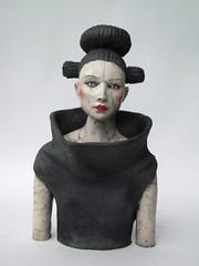 mela 092 (Melanie Bourget) Tags: sculpture woman art ceramic femme clay raku argile buste
