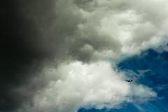 Heading for trouble (subterraneancarsickblues) Tags: sky clouds plane canon airplane edinburgh aircraft arthursseat ef50mm18ii eos550d rebelt2i kissx4digital