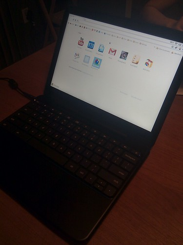 Just got my #io2011 Chromebook...