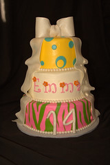 "colorful girlie birthday cake • <a style=""font-size:0.8em;"" href=""http://www.flickr.com/photos/60584691@N02/6023405319/"" target=""_blank"">View on Flickr</a>"