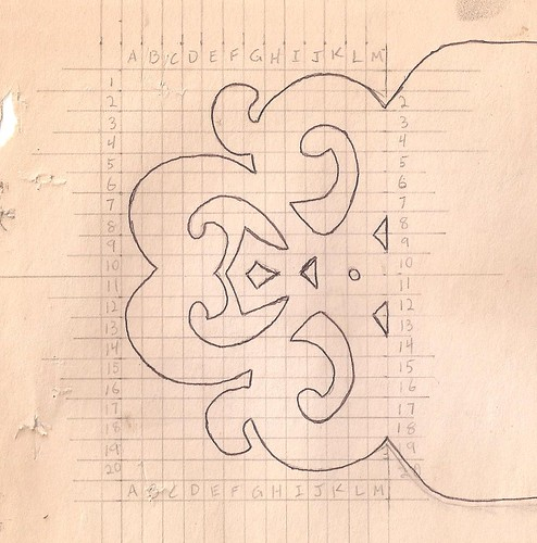 Spielman's original end design for signs