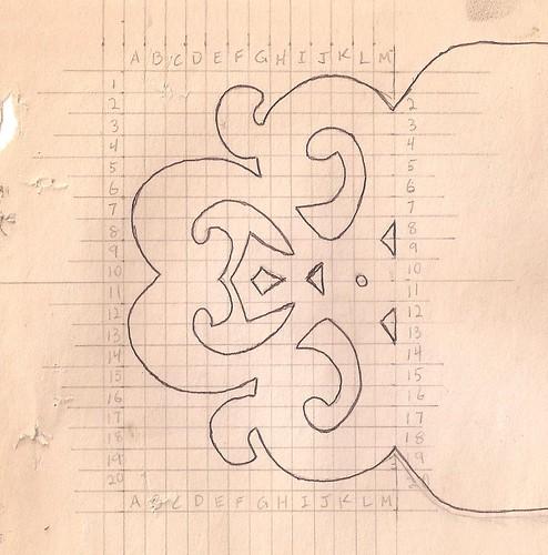 Spielman's original end design for signs
