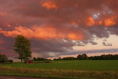 Stormy sunset Geneva, NY (gaillvlnd) Tags: sunset summer clouds storms thunderheads