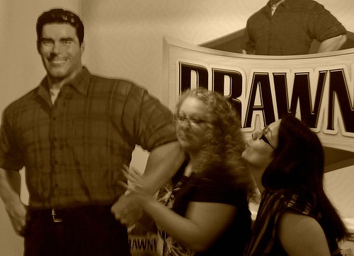 Smooching the Brawny man