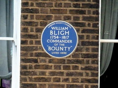 Photo of William Bligh blue plaque
