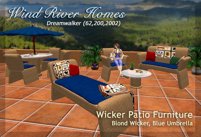 Blond Wicker Patio Furniture