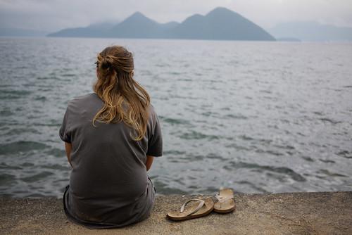 Looking over Lake Toya, Hokkaido, Japan