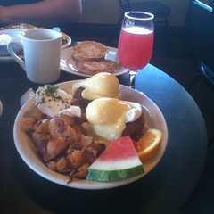 Dungeness Crab Cake Benedict @ Oakland Grill