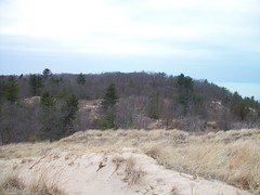 Kemil Beach Trail - Summit - Woods (Zoesdare) Tags: statepark sky nature clouds sand dunes indiana lakemichigan kemilbeach dunesnationallakeshore