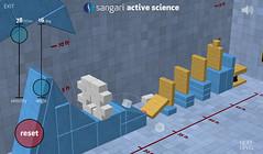 Sangari Physics Game - Toppling the dominos
