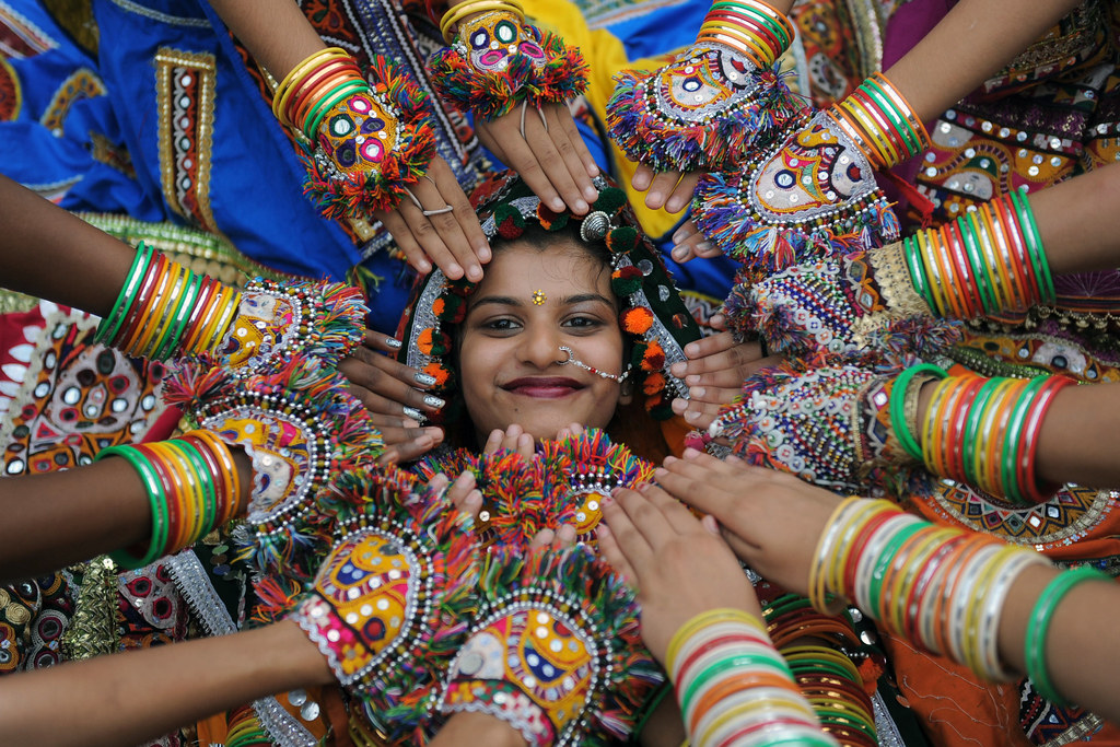 Indian folk dancing