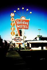 Holiday Motel (VERY GIORGIOUS) Tags: las vegas usa holiday film coffee pool tv lomo lca xpro cross nevada motel slide cable processing fabulous processed lomograpy
