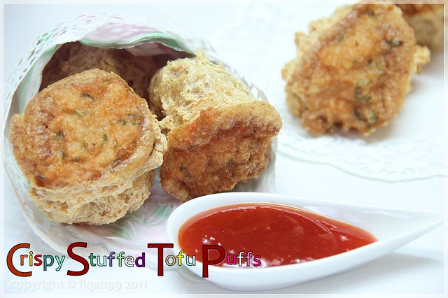 Crispy Stuffed Tofu Puffs