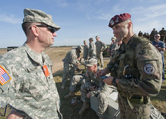 Discussing operations (U.S. Army Europe Images) Tags: canada jump military poland parachute multinational usarmyeurope bumgardner 173rdairbornebrigadecombatteam dragon11
