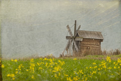 Wooden Windmill,  Kizhi Island,  Russia (Cat Girl 007) Tags: texture windmill architecture wooden russia unesco enchanted kizhi flypaper  explored lesblumes truthandillusion