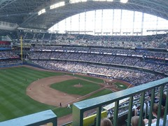 View from Section 434 Miller Park