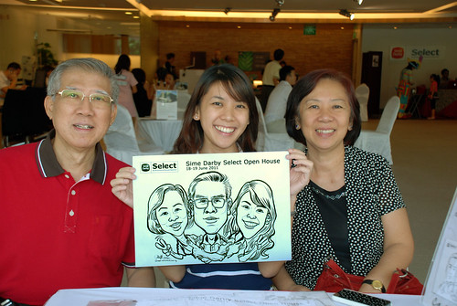 Caricature live sketching for Sime Darby Select Open House Day 2 - 9