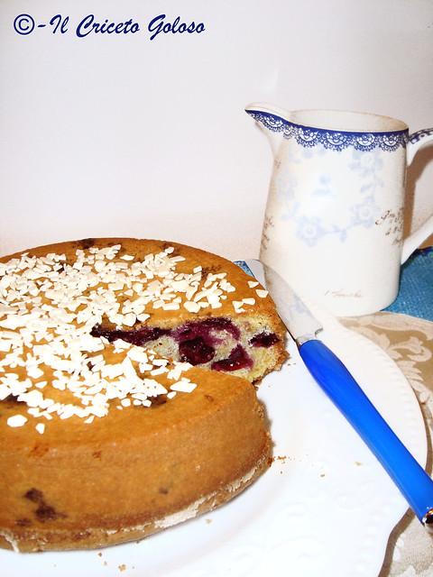 Torta ai mirtilli e cioccolato bianco