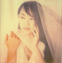 impossible touch (milkysoldier) Tags: portrait polaroid sx70 veil impossible natsu roidweek roidweekday2 px680