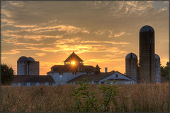 Dairy Barn Sunrise (MurrayH77) Tags: park sunrise niceshot farm pa norristown hdr wow1 wow2 wow3 wow4 photomatix greatphotographers wow5 a efs1855is mygearandme mygearandmepremium mygearandmebronze mygearandmesilver allnaturesparadise 18542123