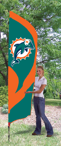 Miami Dolphins Tall Feather Flag