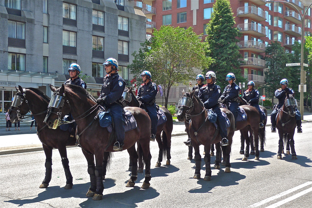 Copyright Photo: Security Escort on Horseback 1 by Montreal Photo Daily, on Flickr