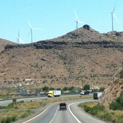 On the way to Vegas, windmills