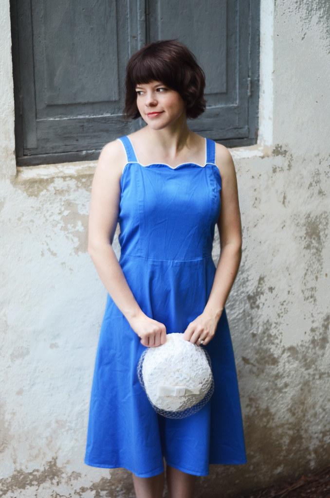 Vintage Blue Sailor Dress