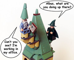 Headmaster's Office (Oky - Space Ranger) Tags: tower office funny lego harry potter hogwarts minerva mcgonagall headmaster dumbledore