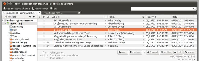 Thunderbird In Ubuntu 11 10 - Jono Bacon