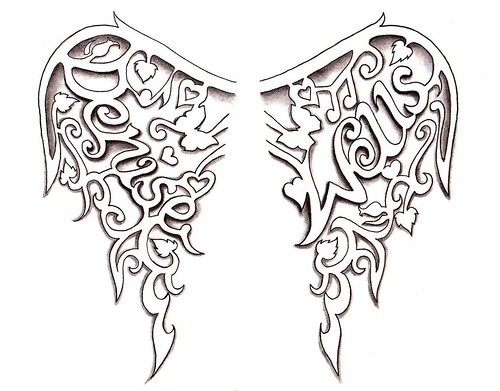 Angel Wings Tattoo design by Denise A. Wells
