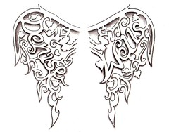Angel Wings Tattoo design by Denise A. Wells (Denise A. Wells) Tags: flowers blackandwhite flower tattoo pencil sketch vines artwork colorful artist heart drawing girly lettering tattoodesign tattooflash workofart flowertattoo butterflytattoo nametattoo calligraphytattoo customlettering angelwingstattoo tattoophotos beautifultattoo scripttattoo nametattoos tattooimages tattoolettering tattooimage tattoophoto tattoopicture musicnotestattoo tattoodesignsforwomen prettytattoo deniseawells creativetattoos customtattoodesign uniquetattoodesigns prettytattoodesigns girlytattoodesigns nametattooideas prettytattoodesign deniseawellstattoos detailedtattooscript eleganttattoodesigns femininetattoodesigns tattoolinework cooltattoodesigns calligraphylettering uniquecalligraphydesign cursivetattoolettering fancycursivetattoolettering heartstattoo tattooalphabet denisetattoo namedesignmadeintoangelwings denisetattoodesign professionalletteringtattoos typographictattoodesigns