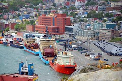 St. John's Newfoundland Harbour (Glorious Vintage ~ flying with stars for you!) Tags: newfoundland harbour stjohns