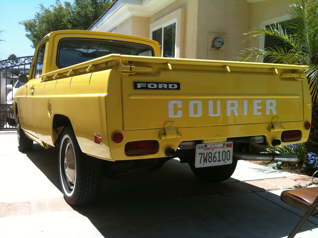 original ford pickup tailgate oldcar courier