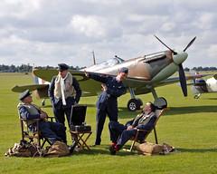 Ready to scramble (© Freddie) Tags: iwm duxford cambridgeshire spitfire airshow nikon d300s gaist supermarine raf ww2 thefew battleofbritain qfo egsu reenactment fjroll ©freddie