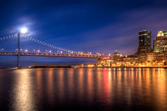 Bay Bridge At Night (cstout21) Tags: sf sanfrancisco california travel chris vacation usa moon delete10 night delete9 landscape delete5 lights delete2 us colorful downtown unitedstates delete6 delete7 save3 delete8 delete3 save7 landmark save8 delete delete4 save save2 historic fullmoon save9 pacificocean save4 massive baybridge embarcadero bayarea save5 save6 westcoast hdr highdynamicrange stout sanfranciscoskyline ngoc canon60d stoutandstout northamera