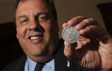 Gov. Chris Christie silver dollar