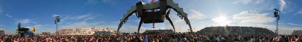 The Claw Vue complète à 360° - U2 360° Tour Montréal 2011 - Panorama