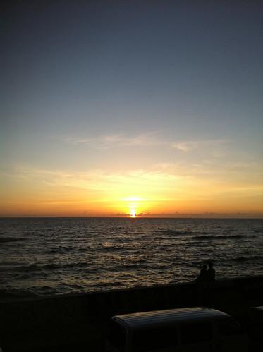 砂辺の夕焼け
