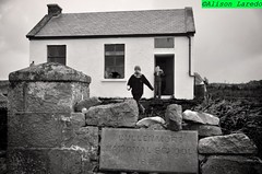 Island-School Reunion  by Alison Laredo (alison laredo) Tags: school ireland blackandwhite bw irish reunion island bay july national 1957 mayo westport clewbay clew 2011 schhol collanmore cullenmore wwwalisonlaredocom