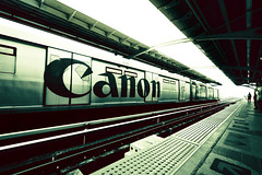 Canon anywhere (MJ ) Tags: travel white black station speed train canon eos high pov 7d tones tone efs 1022mm