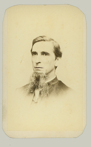 CDV man with long beard