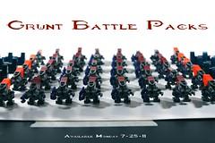 Grunt Battle Packs Available 7-25-11 (BrickTechStudios™) Tags: new 2 3 alexandria army 1 marine jackal lego 4 halo battle pack elite pistol hunter plasma hornet combat grunt mombasa brute evolved spiker covenant needler odst