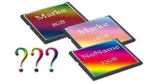 Speicherkarten - Markenware oder Noname?