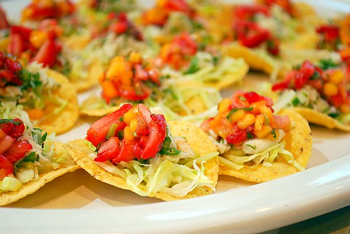 Crab Tostadas with Strawberry & Mango Salsa