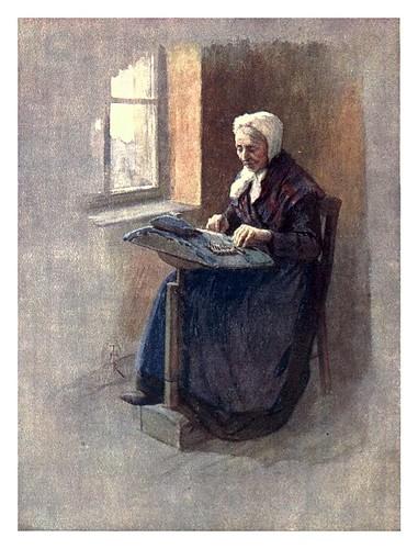 017-Gante-Una vieja bordadora-Belgium 1908- Amédée Forestier