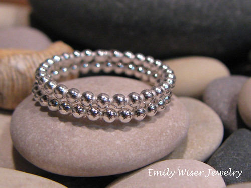 Sterling Silver Stacking Bead Rings by EmilyWiserJewelry2011