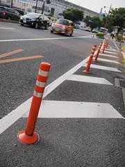PhoTones Works #480 (TAKUMA KIMURA) Tags: road city building station pole  okayama kimura ep3    takuma      mzd17 photones