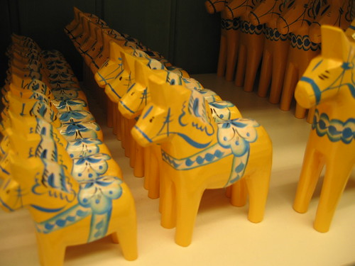 Yellow and very Swedish dala horses