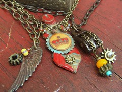 Found object jewelry (lilruby) Tags: gears foundobject repurposed upcycled handcraftedjewelry lilruby